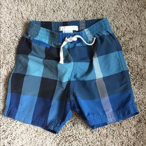 Burberry toddler swim trunk shorts size 12M